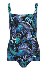Ruched Front Paisley Swimsuit