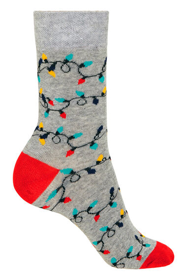 2 Pack Pudding & String Lights Christmas Sock
