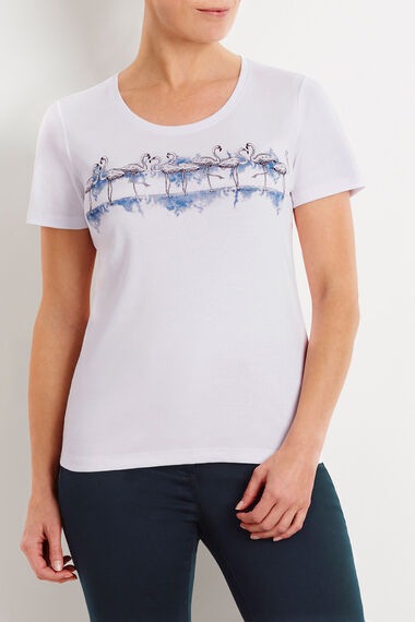 Flamingo Placement T-Shirt