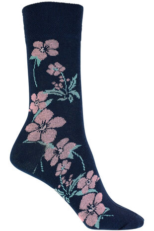 Floral Detail Socks
