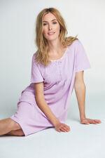 Lilac White Spot Print Nightdress