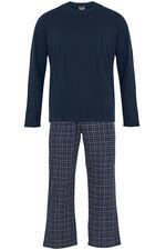 Navy Long Sleeve Pyjama Set