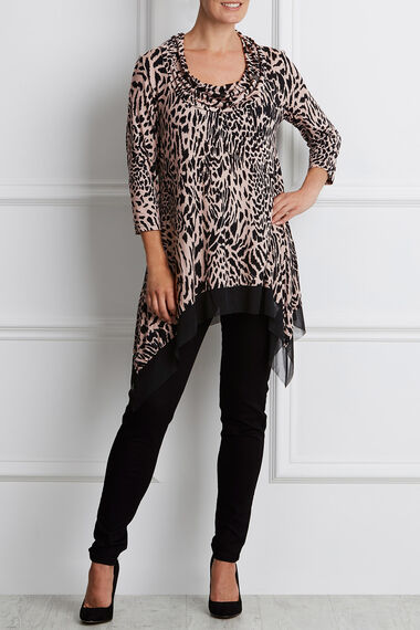Ann Harvey Printed Cowl Neck Top
