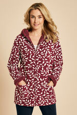 Leaf Print Hooded Fleece