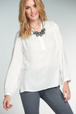 Textured Button Detail Blouse