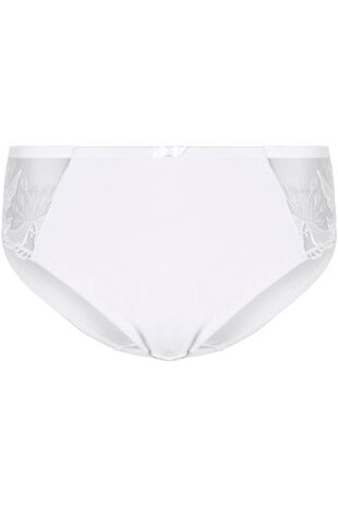 Embroidery Mesh Side Panel Brief
