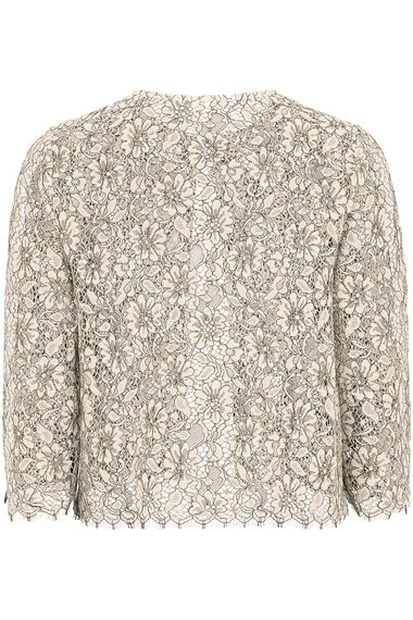 Lace Scalloped Edge Jacket