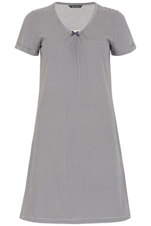 Narrow Stripe Lace Nightshirt