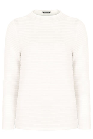 Ripple Textured Turtle Neck Jumper