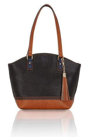 Contrast Detail Shoulder Bag