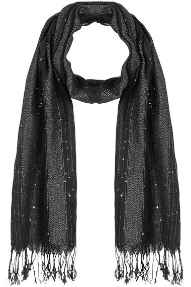 Black Scarf With Sequins