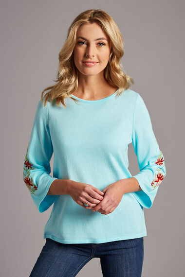 Embroidered Sleeve Jumper