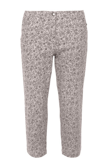 Floral Bloom Print Capri Trousers