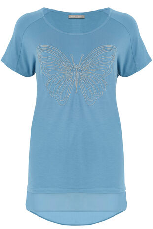 Ann Harvey Embellished Butterfly Top