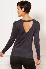 Metallic  V-Back Jumper