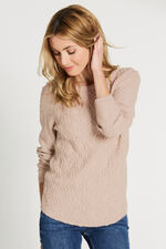 Long Sleeve Cable Knit Jumper