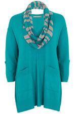 Ann Harvey Sweater With Stripe Scarf