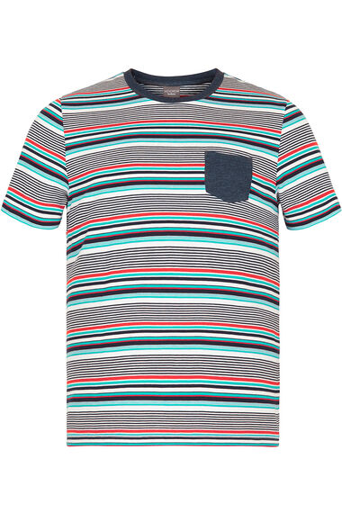 Multi Colour Striped T-Shirt With Pocket