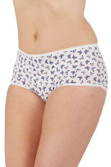 5 Pack Butterfly Print Full Briefs