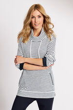 Striped Cowl Neck Jumper