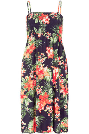 Tropical Print Multiway Beach Dress