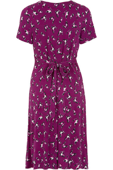 Butterfly Print Tea Dress