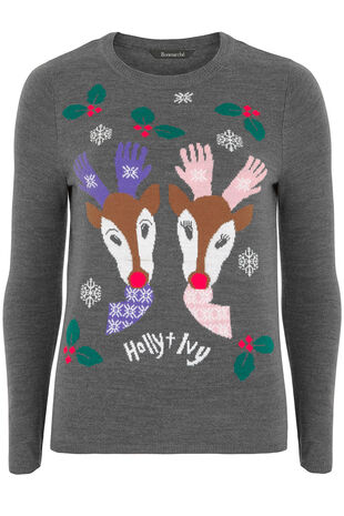 Exclusive Reindeer Christmas Jumper