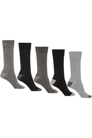 Mens 5Pck Grey Socks