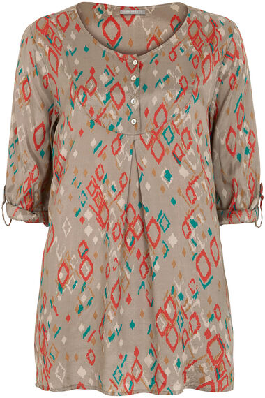 Ann Harvey Printed Crushed Blouse