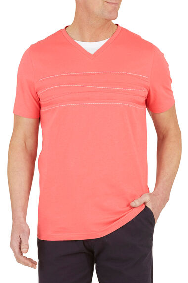 2 In 1 Embroidered T-Shirt