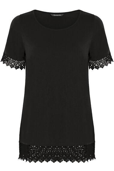 Lace Trim Short Sleeve Top
