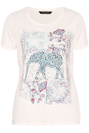 Placement Elephant Print T-Shirt