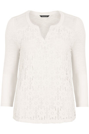 Lace Panel Jersey Top