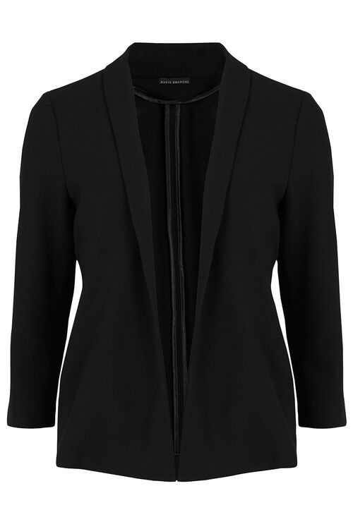 David Emanuel Tailored Crepe Jacket