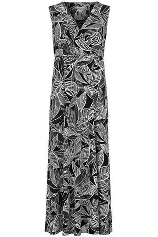 Ann Harvey Leaf Print Maxi Dress