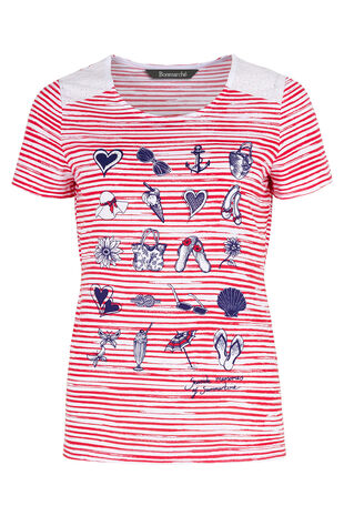 Stripe Seaside Placement T-Shirt