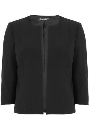 Signature Short Crepe Jacket