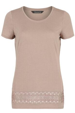 Lace Insert T-Shirt