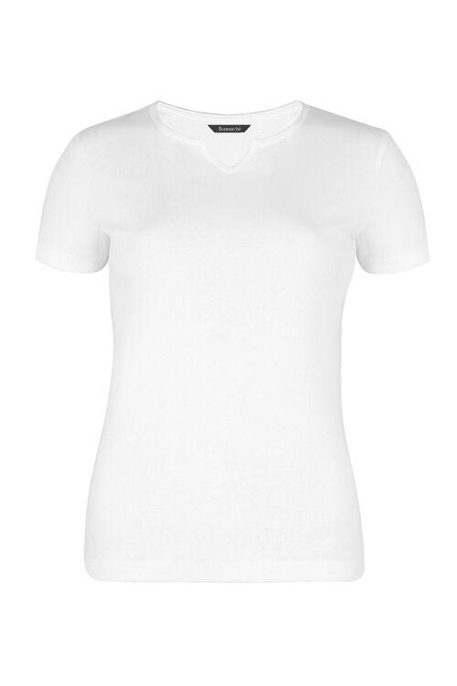 Short Sleeve Notch Neck T-Shirt