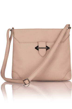 Tab Detail Cross Body Bag