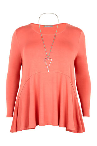 Ann Harvey Peplum Hem Necklace Top