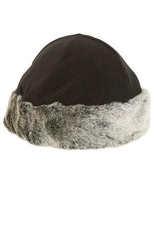 Fleece Fur Trim Hat