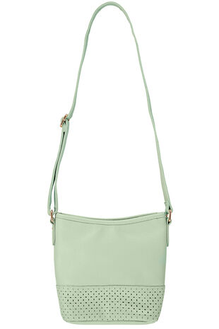 Cut Out Detail Cross Body Bag