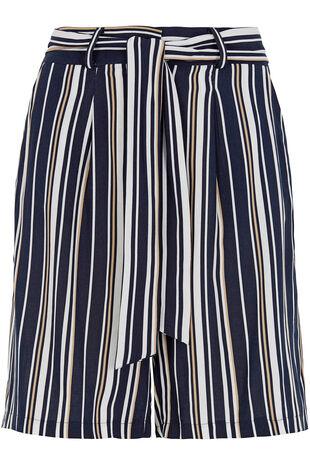 Tie Front Stripe Shorts