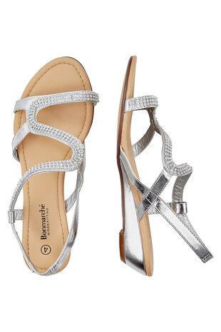 Diamante Wedge Sandals