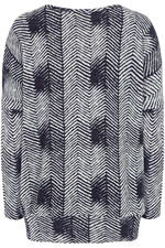 Stella Morgan Herringbone Print Soft Touch Sweater