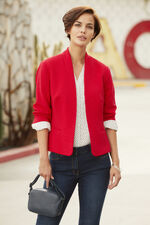 Jersey Ribbed Jacket
