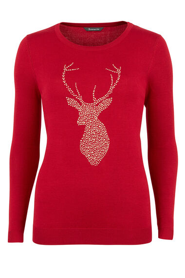 Studded Stag Character Jumper