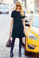 Crochet Detail Empire Line Jersey Dress