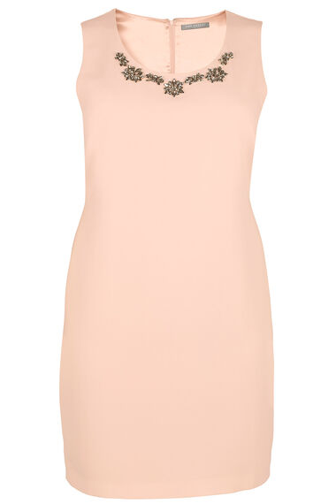 Ann Harvey Beaded Neck Shift Dress